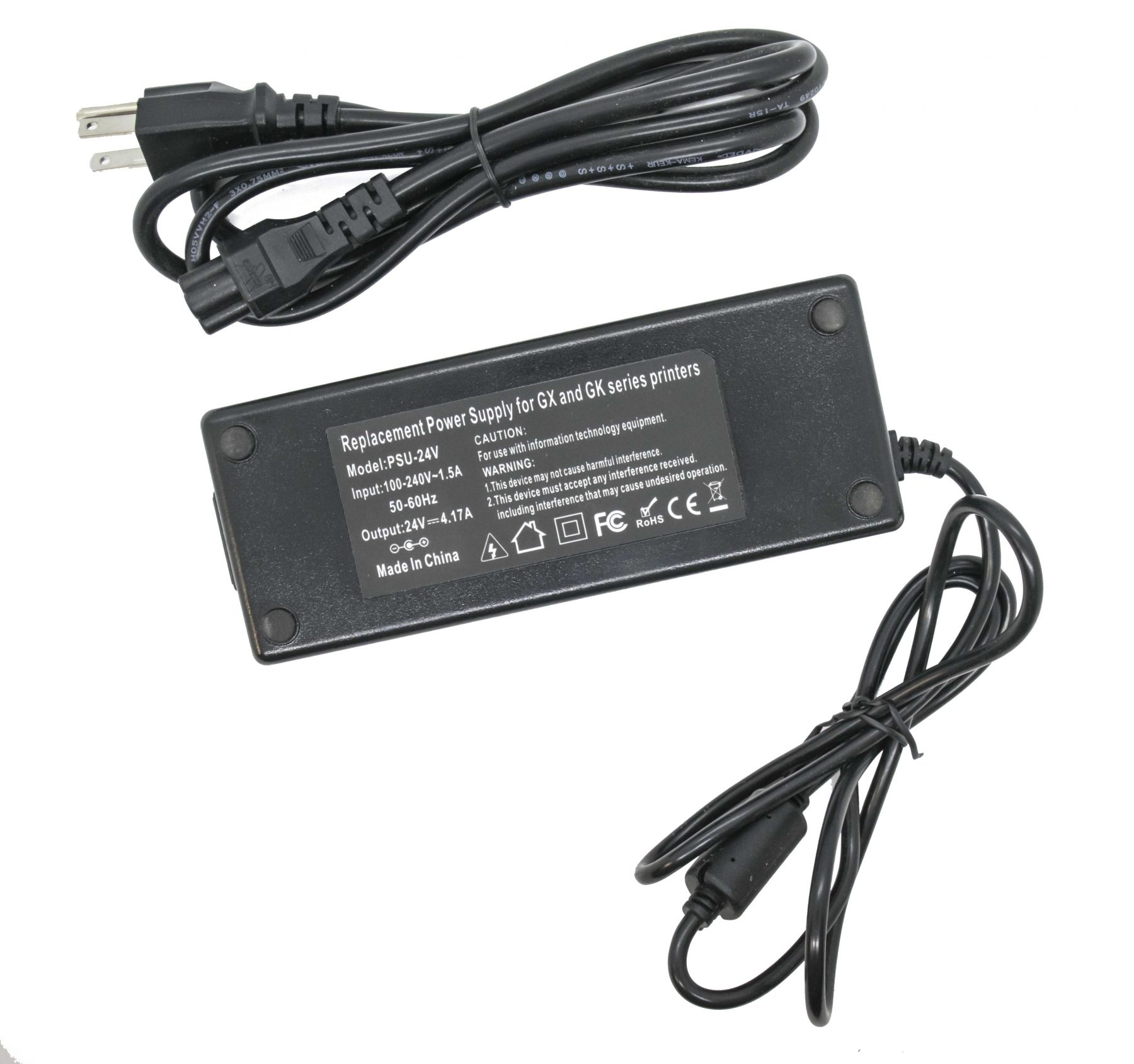 New Zebra GK420d GX420d GX420t GK420t AC Adapter Power Supply 24V Compatible