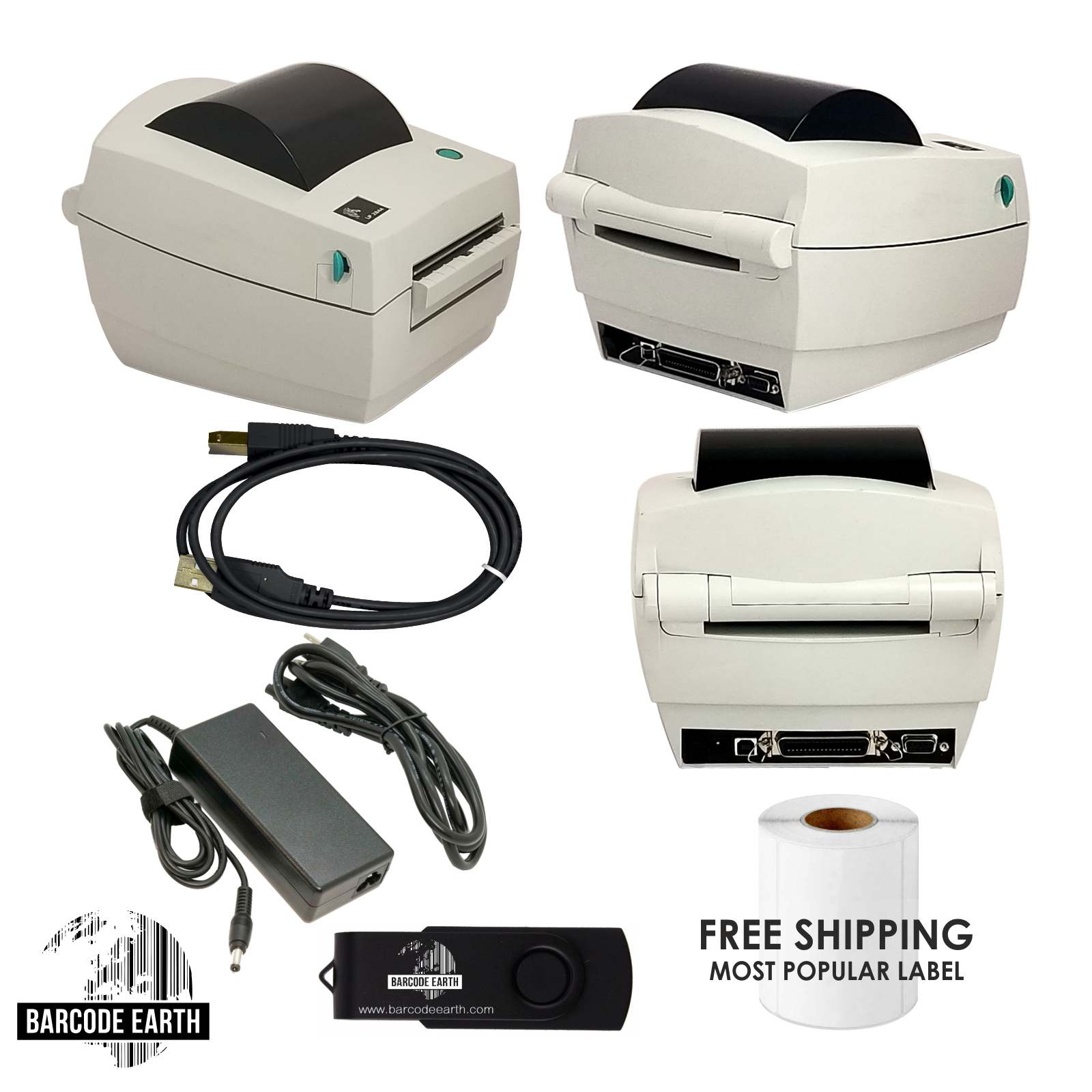 Zebra LP 2844 $119 99 Direct Thermal Label Tag Printer LP2844