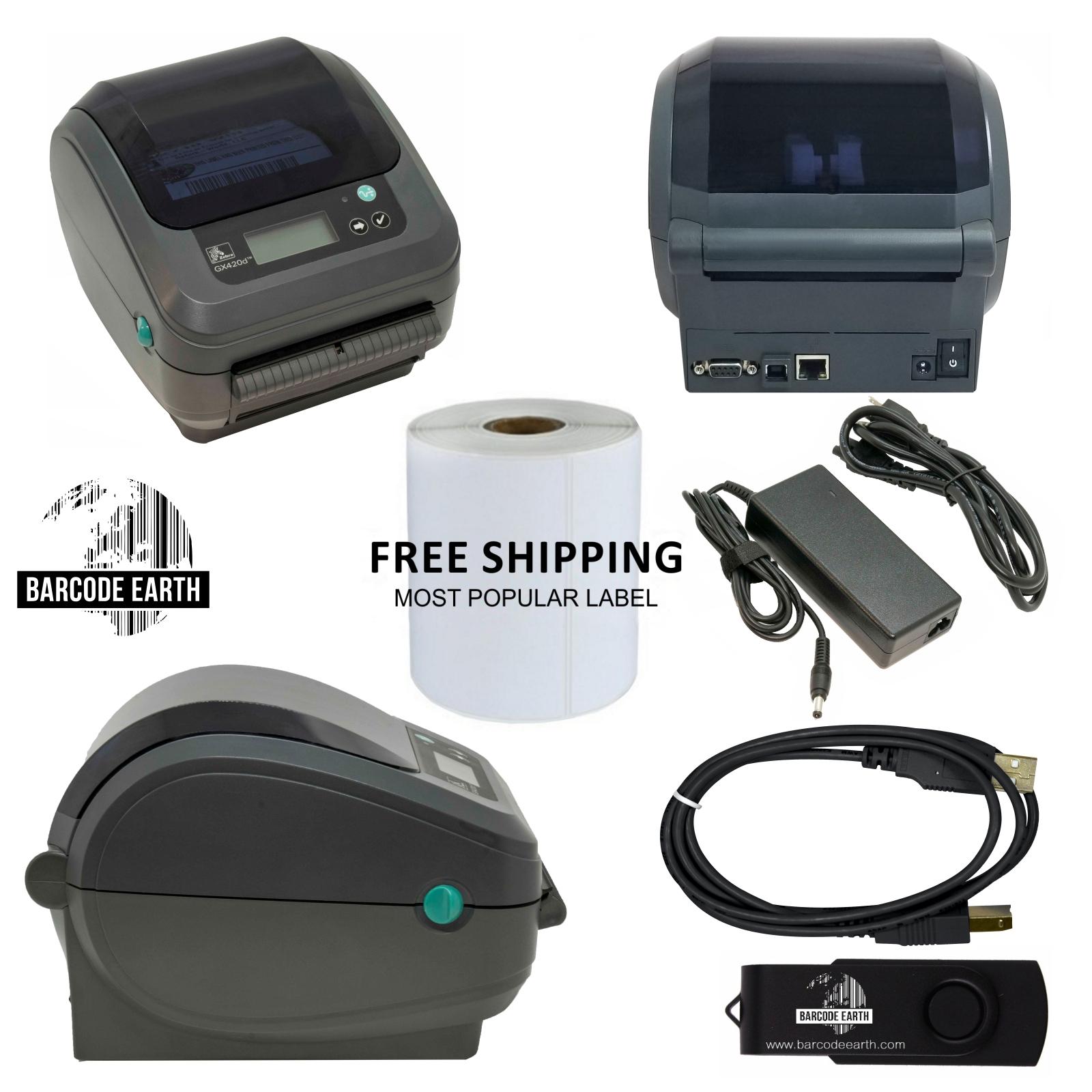 Zebra GX420d Desktop $199 99 Direct Thermal Label Printer with Ethernet &  USB