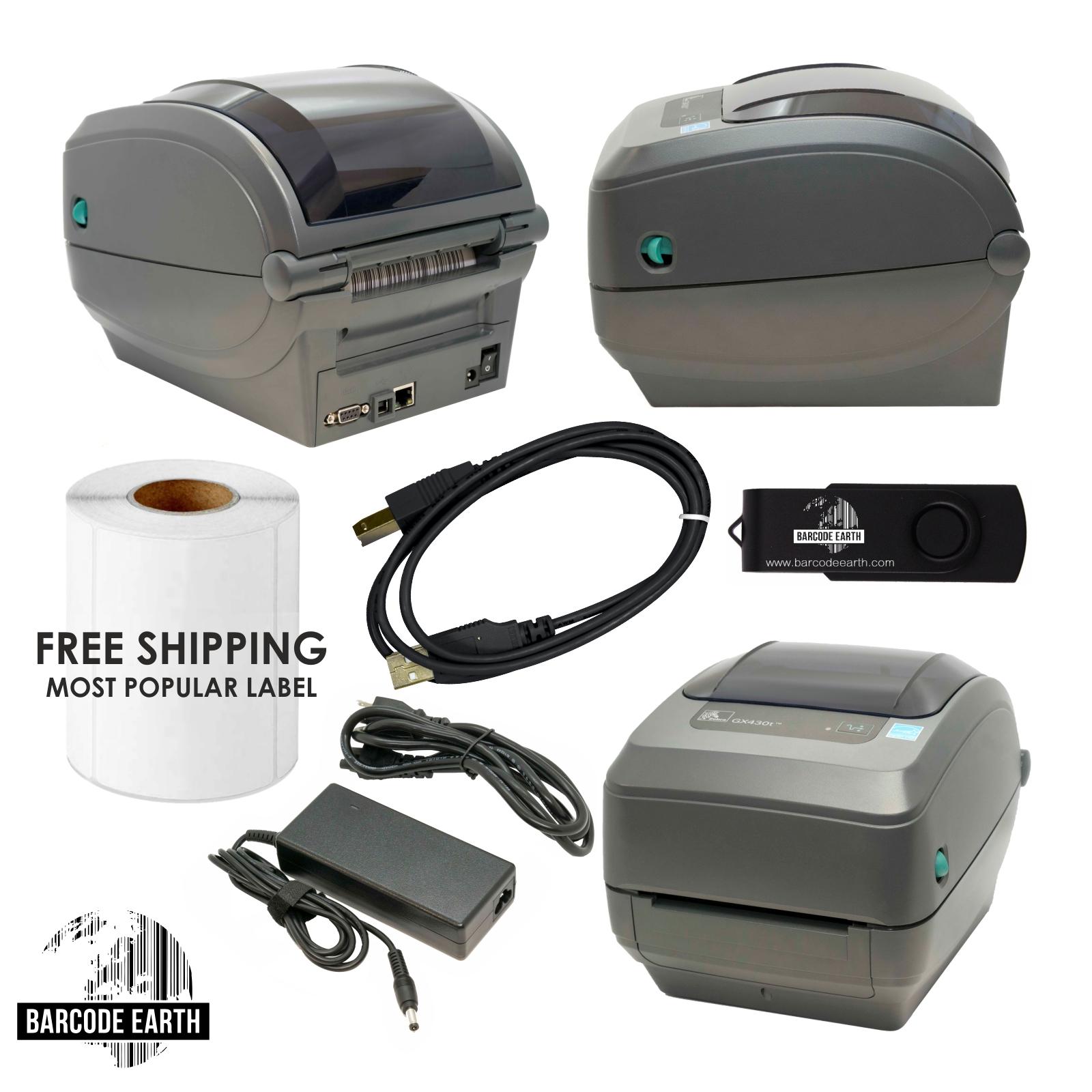 Zebra GX430T GX43-102410-000 $249 99 Thermal Barcode Label Tag Printer  Network