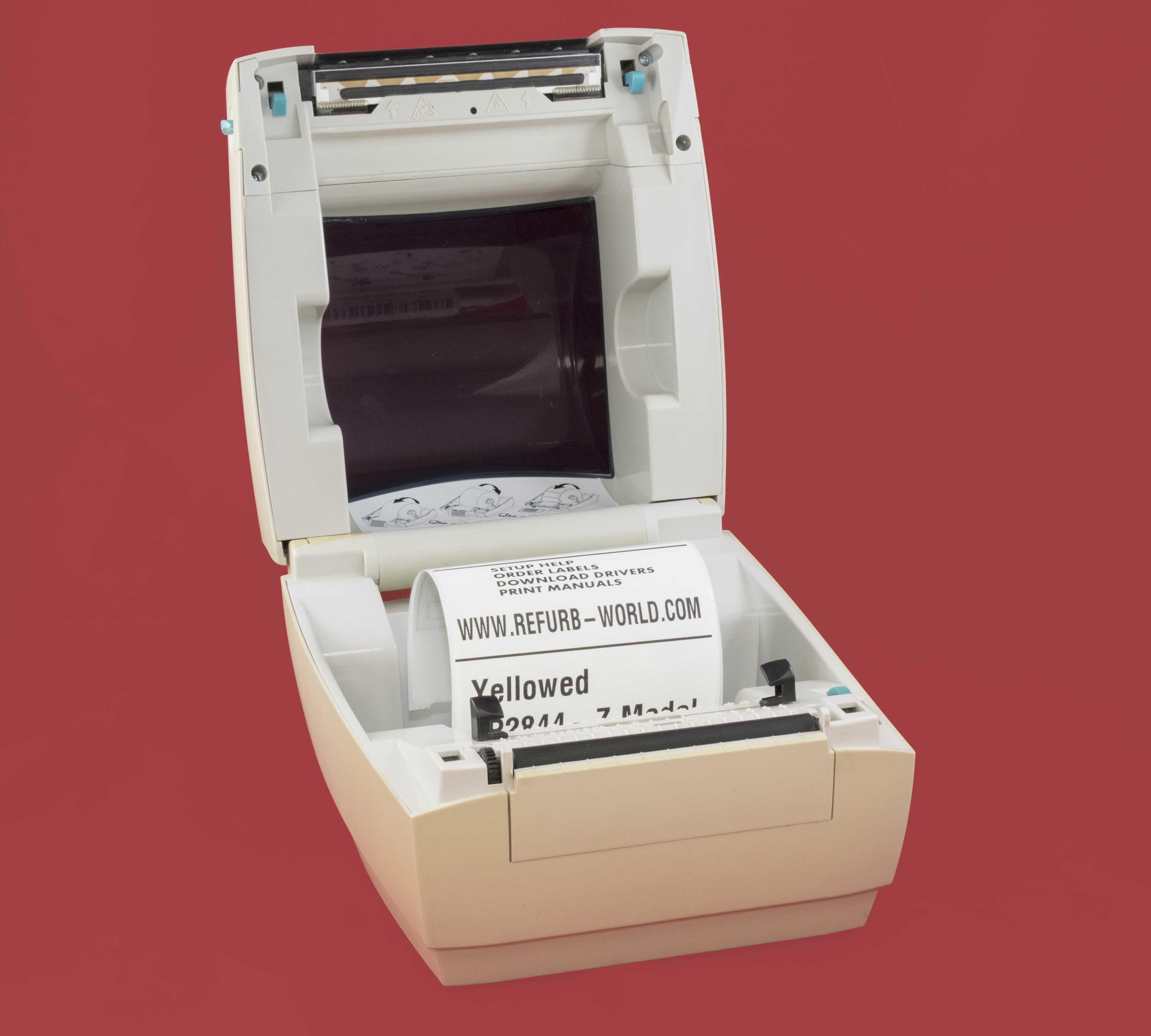 Zebra Yellowed LP 2844 Direct Thermal Label Tag Printer $119 99