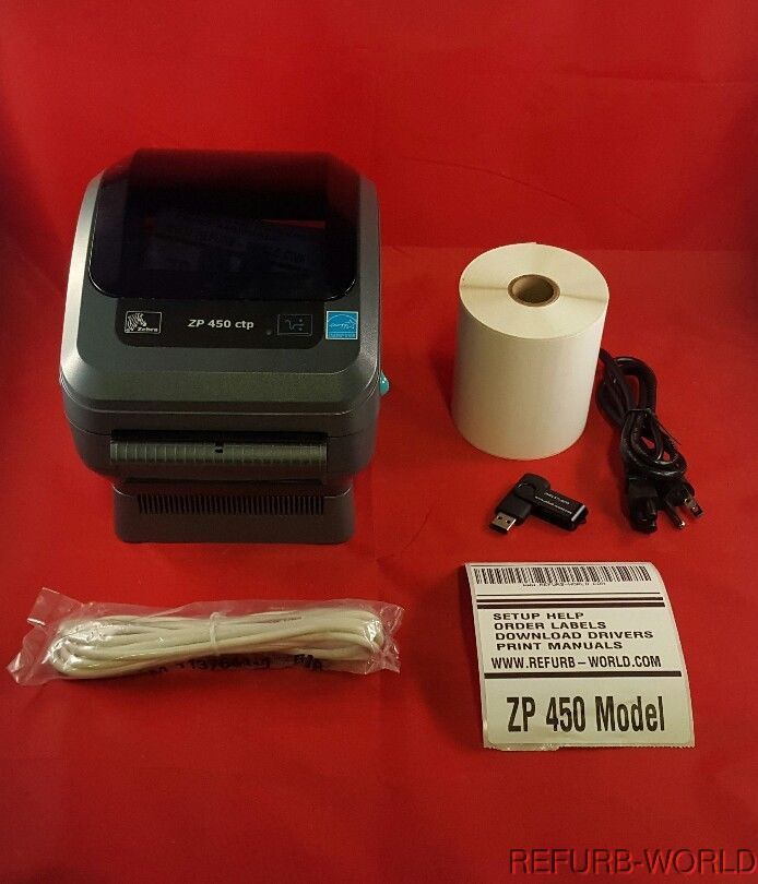Zebra ZP 450 CTP Label Thermal Printer USB and Serial Ports, Fast Shipping