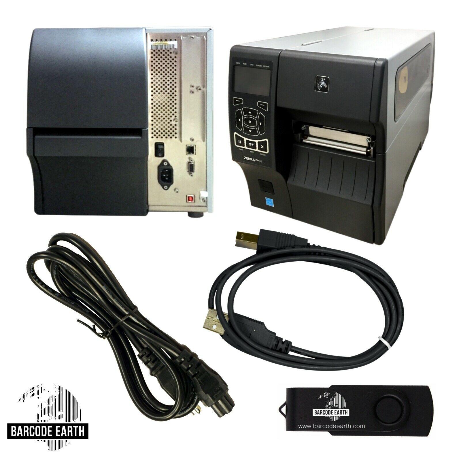 Zebra ZT410 $499 99 Thermal Transfer Industrial Printer USB LAN  ZT41042-T01A000Z