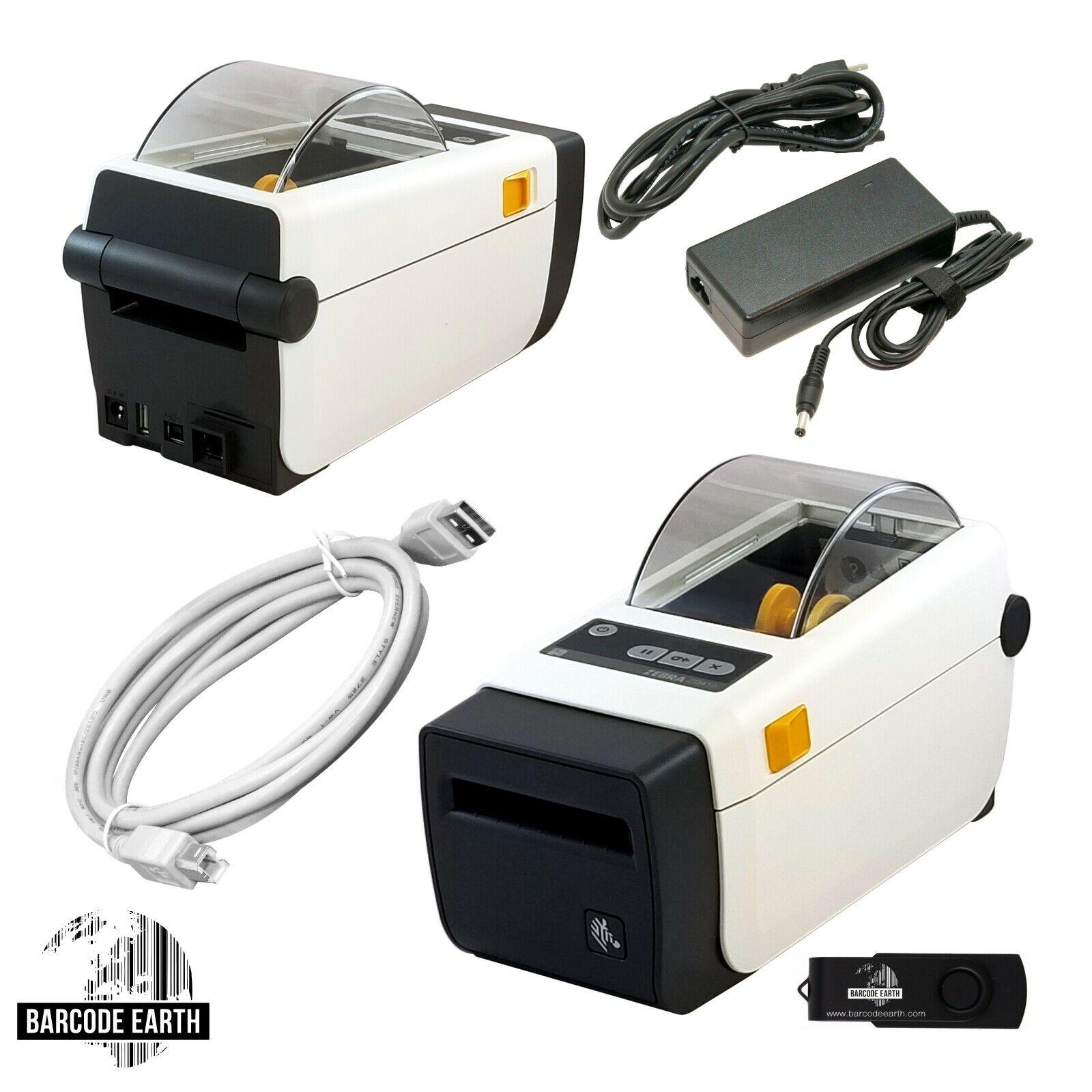 Zebra ZD410 Thermal Label Printer Ethernet ZD41H22-D01E00EZ, New Open Box