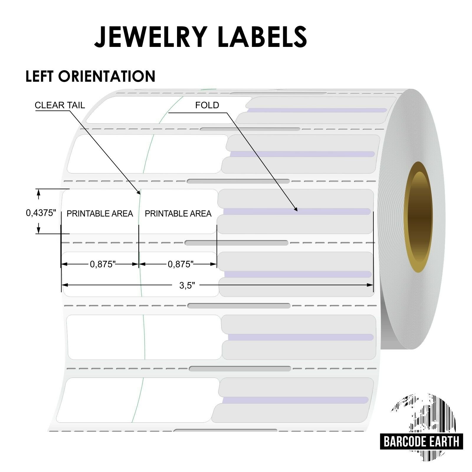 Thermal Transfer Jewelry Rat Tail Labels for Zebra Thermal Printer
