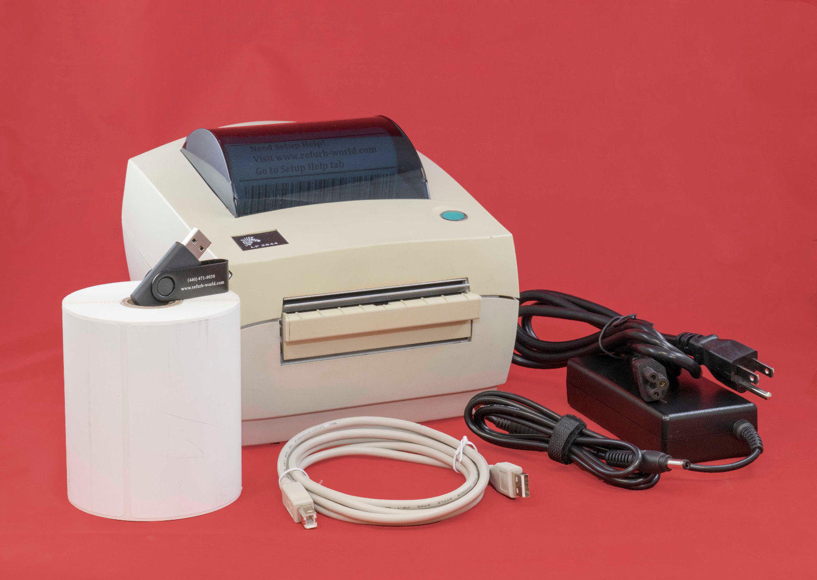 Zebra LP 2844 Yellowed Direct Thermal Label Printer for Ebay Shipping +  Others